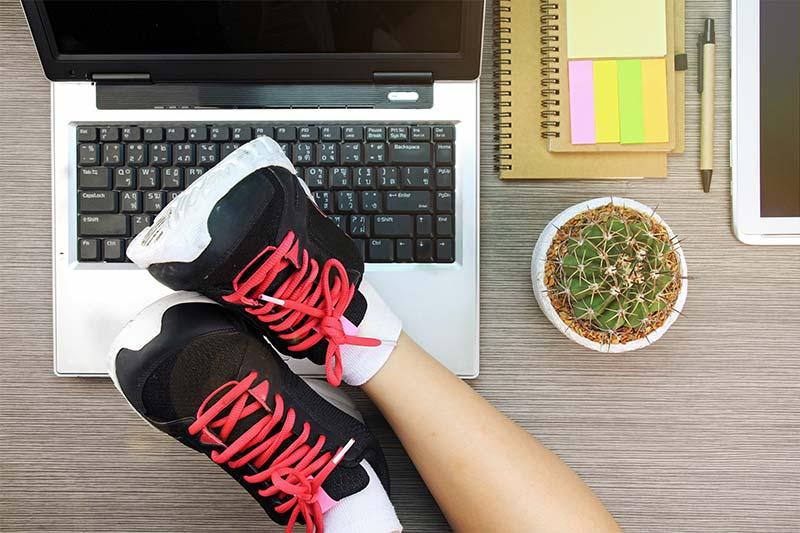 Eine gesunde Balance zwischen Arbeit und Bewegung ist wichtig