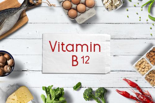 Vitamin B12 und Lebensmittel, die es enthalten werden gezeigt